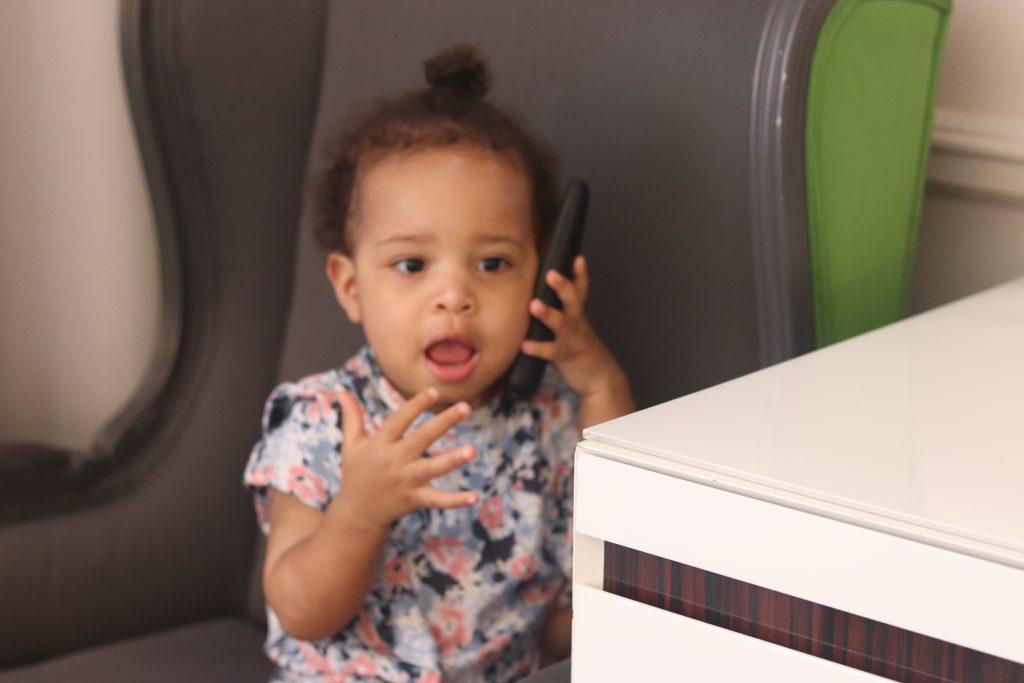 baby on telephone