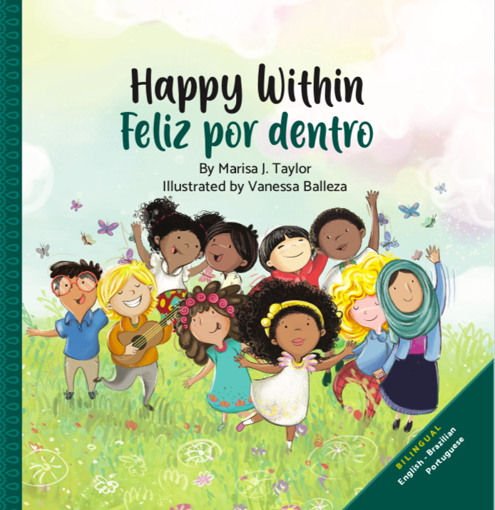 happy within book, bilingual books, bilingual kids books, diverse kids books, livros bilingues, livro infantil